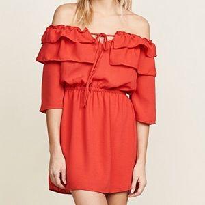 """Jack """"Bowser dress"""".  Red off the shoulder dress"""